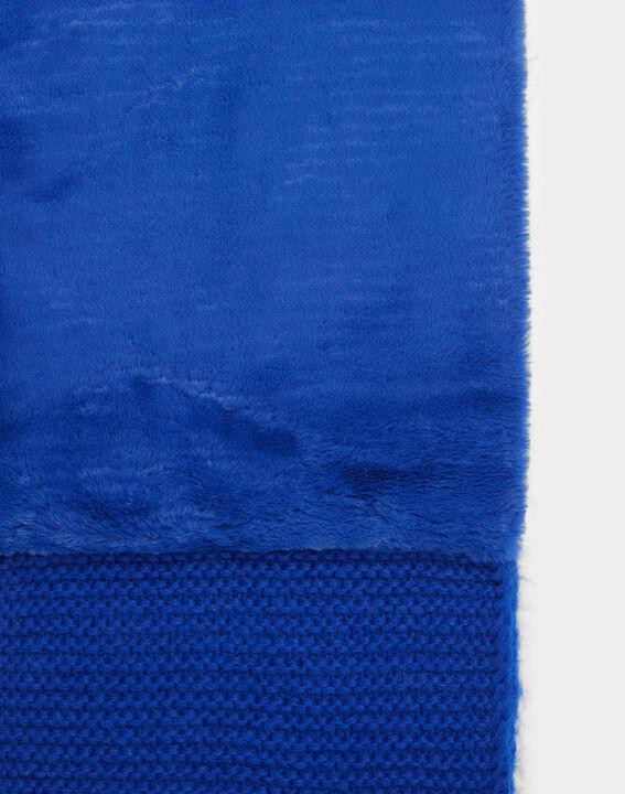 Königsblauer Loopschal aus Woll-Mix Tigresse (2) - 1-2-3