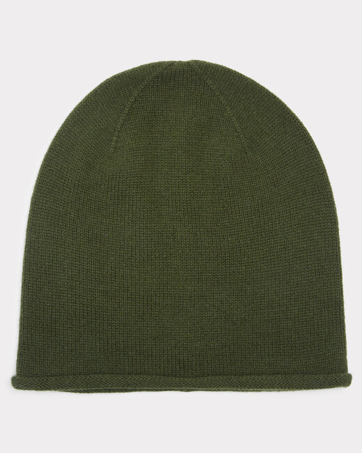 Bonnet kaki en cachemire Tilleul (1) - 1-2-3