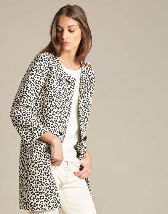 Kelly jacquard jacket in leopardskin print (3) - 1-2-3