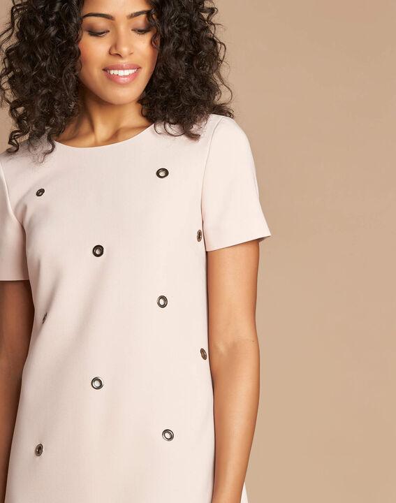 Robe rose pâle avec œillets Adélie bis (1) - 1-2-3