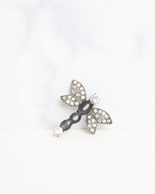 Oana black bee brooch with rhinestone detailing (1) - 1-2-3