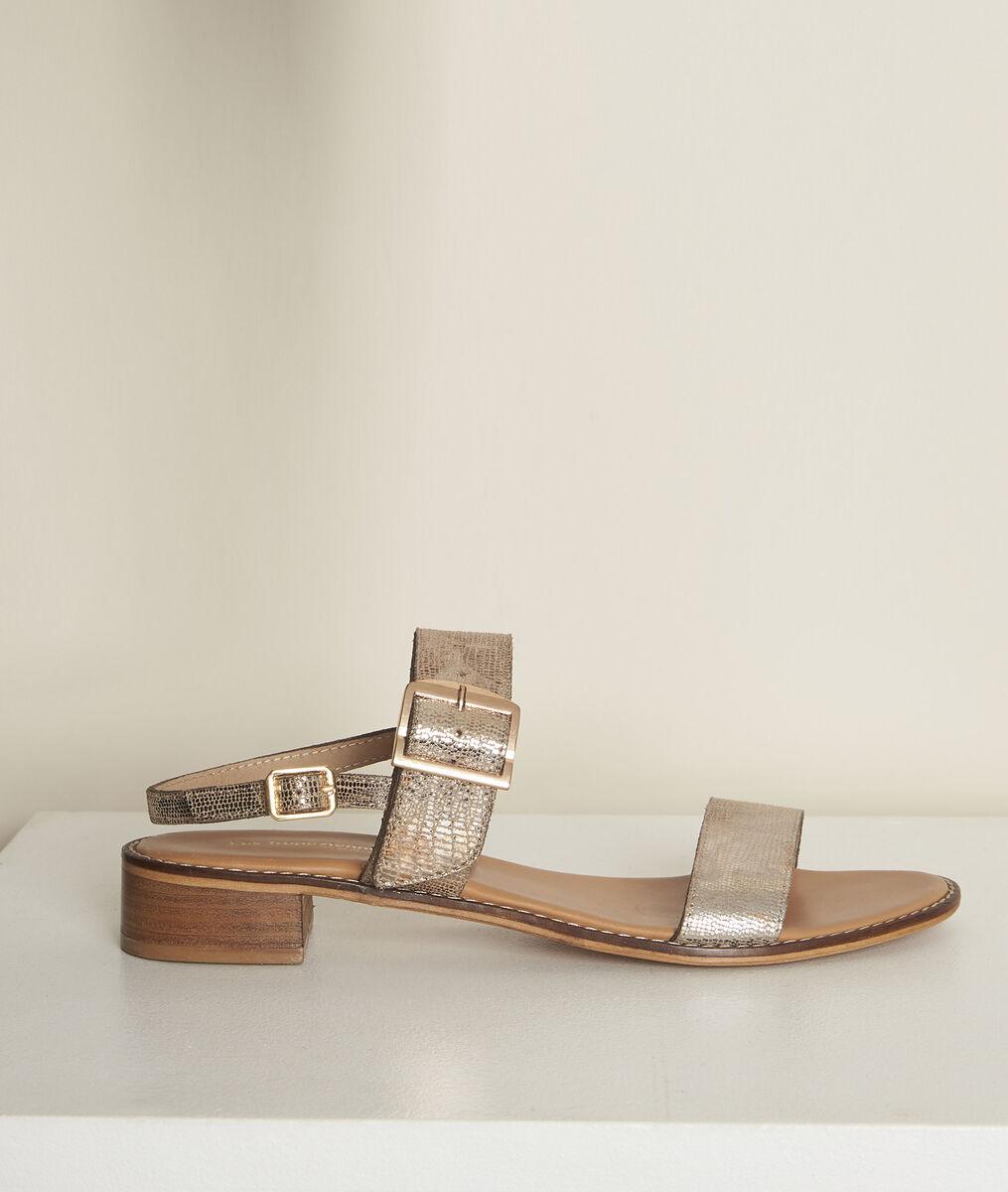 Sandales dorées jideo les tropéziennes PhotoZ | 1-2-3