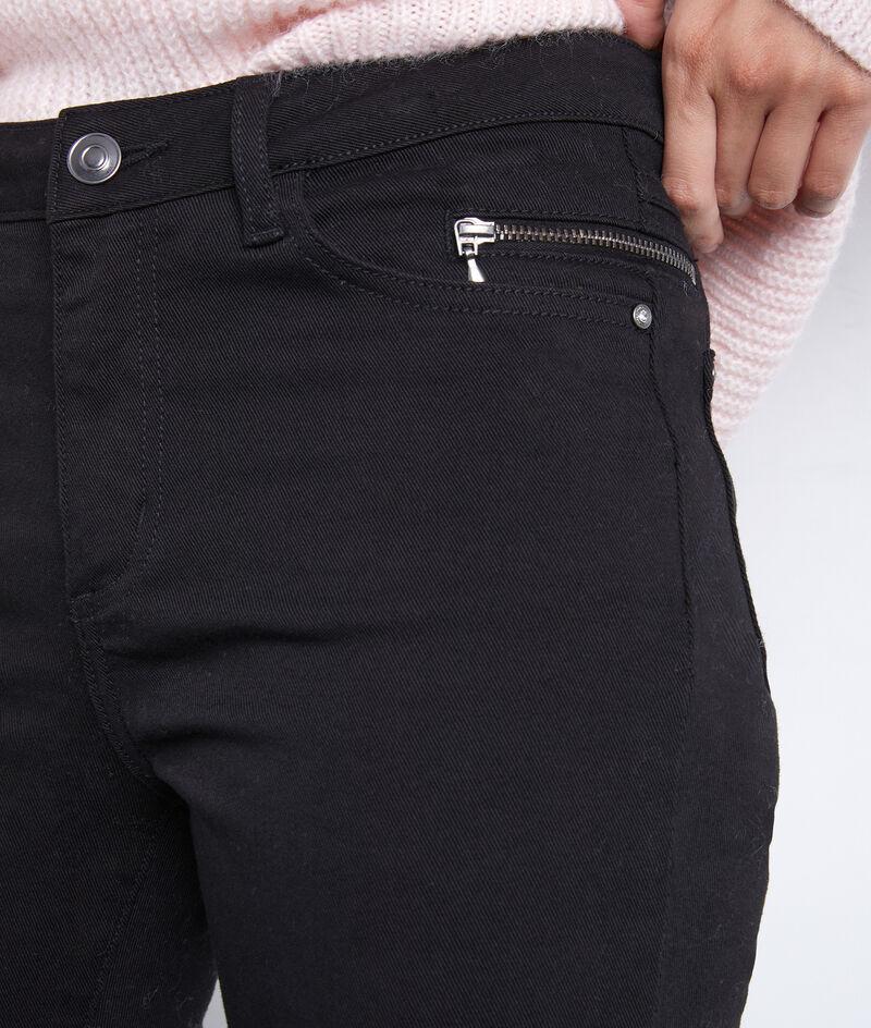 Jean slim en coton noir détail zip Nateo PhotoZ | 1-2-3