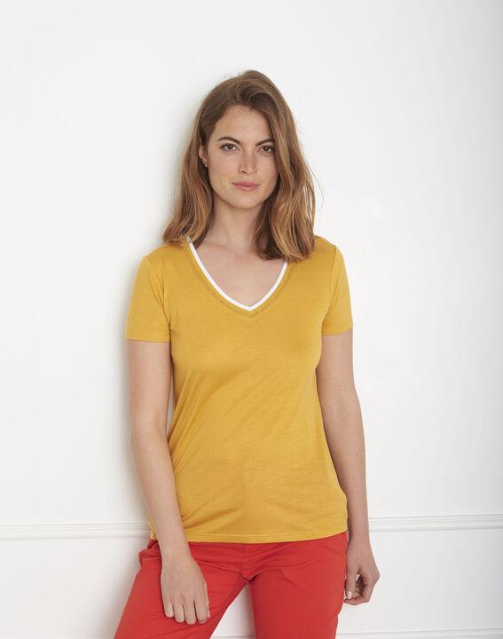 Tee-shirt jaune bord côte Passo (2) - Maison 123