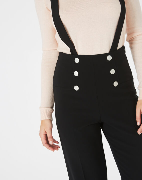 Valeur tailored black trousers with buttons and braces (3) - 1-2-3