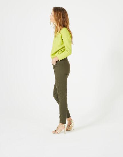 Kloe khaki 7/8 length trousers (5) - 1-2-3