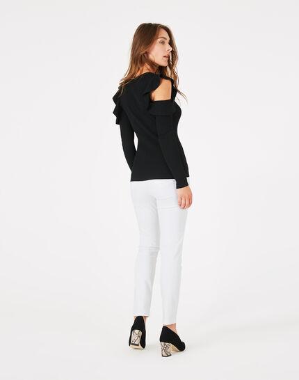 Paule black off-the-shoulder sweater (5) - 1-2-3