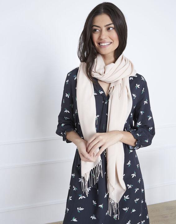 Fossette nude viscose fringed scarf  (2) - 1-2-3