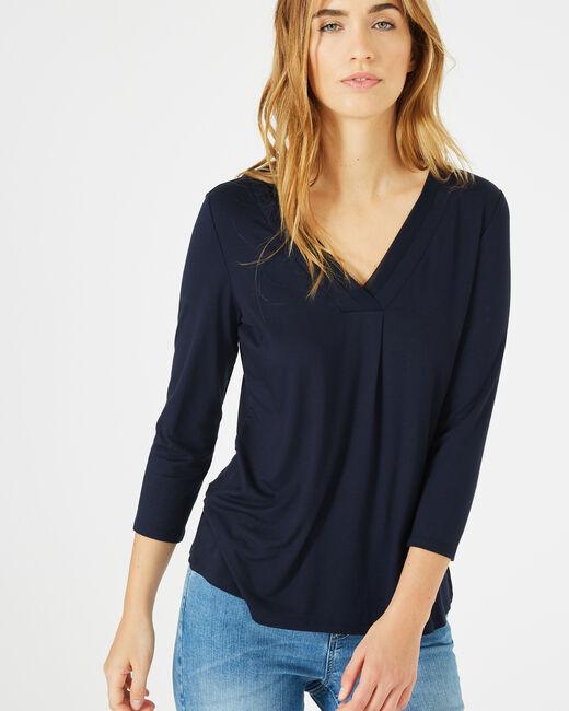 Tee-shirt bleu marine Barbara (1) - 1-2-3