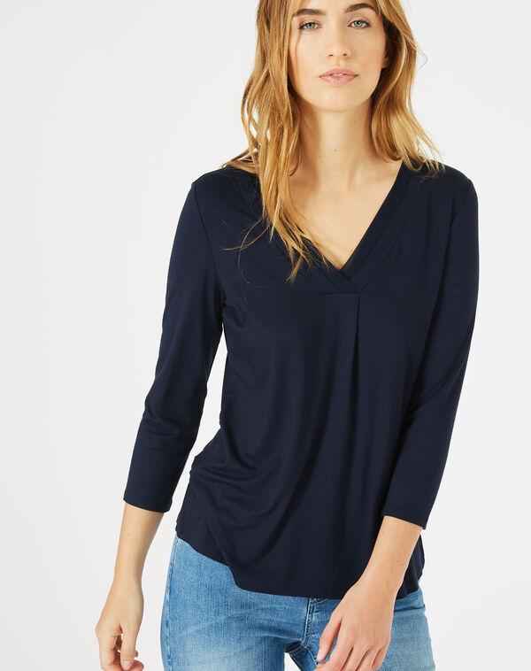 Tee-shirt bleu marine barbara à