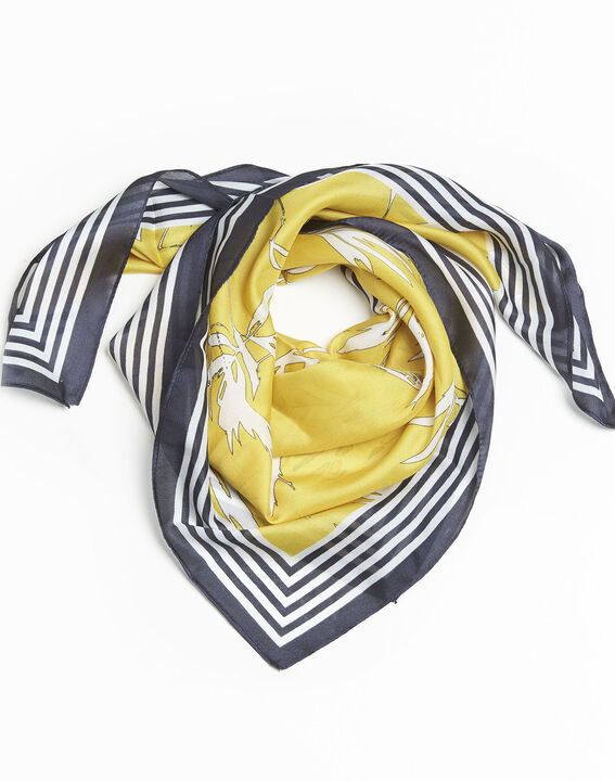 Fifi amber scarf with two prints  PhotoZ | 1-2-3