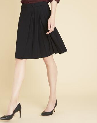 Alpha black skirt with pleats black.