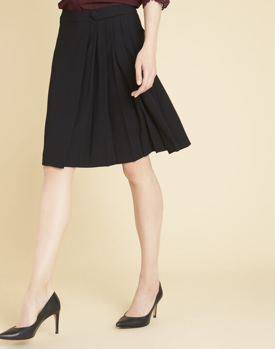 Alpha black skirt with pleats (1) - Maison 123