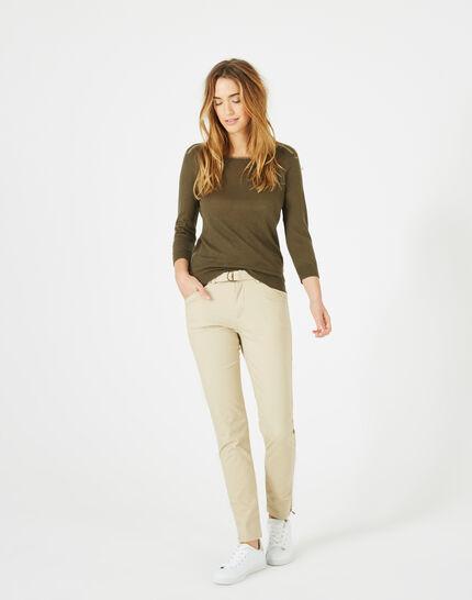 Kloe camel 7/8 length trousers (2) - 1-2-3