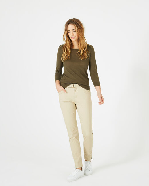 Pantalon camel 7/8ème Kloe (1) - 1-2-3