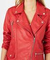 Blouson en cuir rouge Hanna PhotoZ | 1-2-3