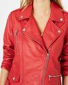 Blouson en cuir rouge Hanna (3) - 1-2-3