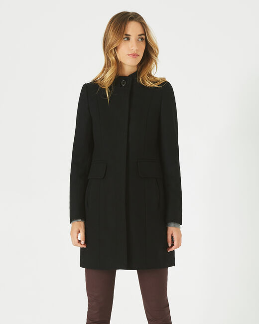 Janis black wool-blend coat (1) - 1-2-3