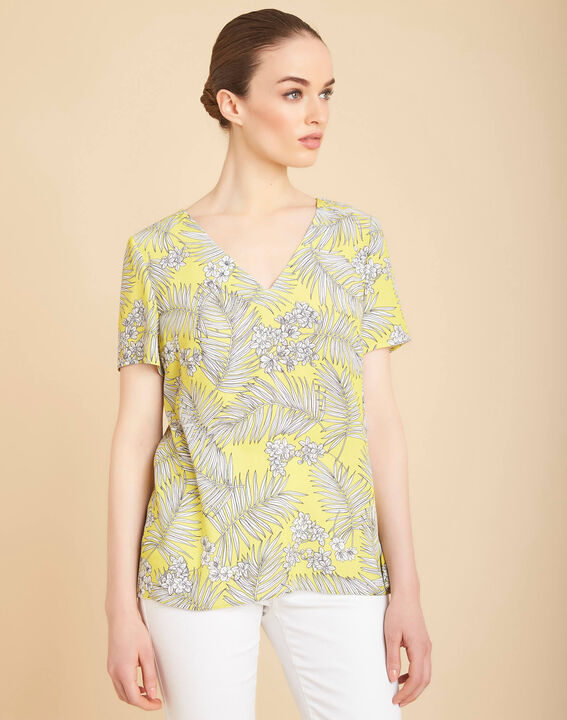 Givre yellow printed T-shirt with tie (3) - 1-2-3