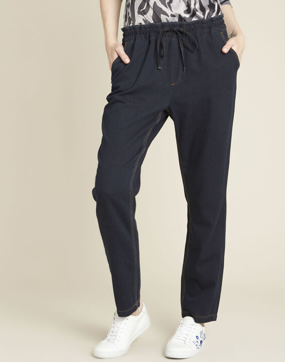 Helroy navy slim-cut drawstring trousers (1) - 1-2-3