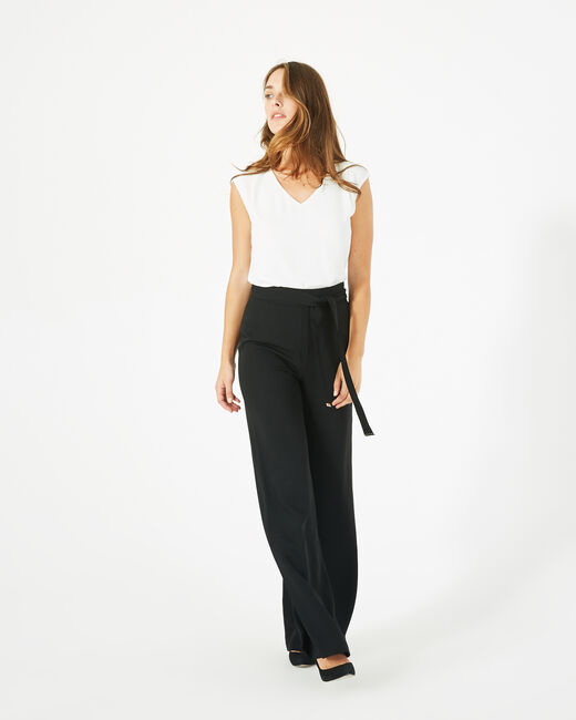 Voyou tailored black trousers with belt (2) - 1-2-3
