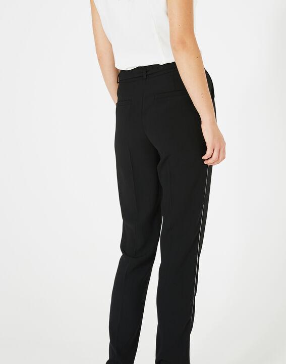 Pantalon noir en crêpe Karoline (5) - 1-2-3