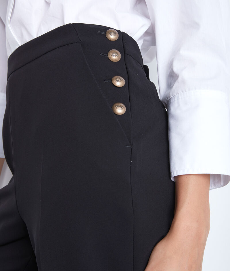 Pantalon de tailleur en microfibre noir David PhotoZ | 1-2-3