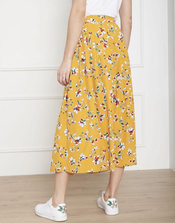 Jupe jaune imprimé fleuri Selma (4) - Maison 123