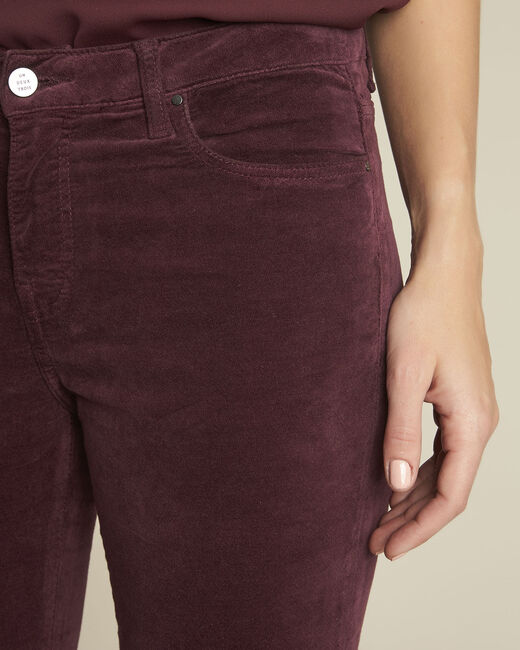 Bordeauxrote Slim Jeans aus Samt Vendome (2) - 1-2-3