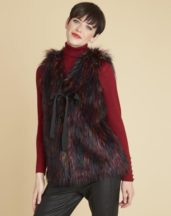 Vest van meerkleurig imitatiebont Pilou (1) - 37653