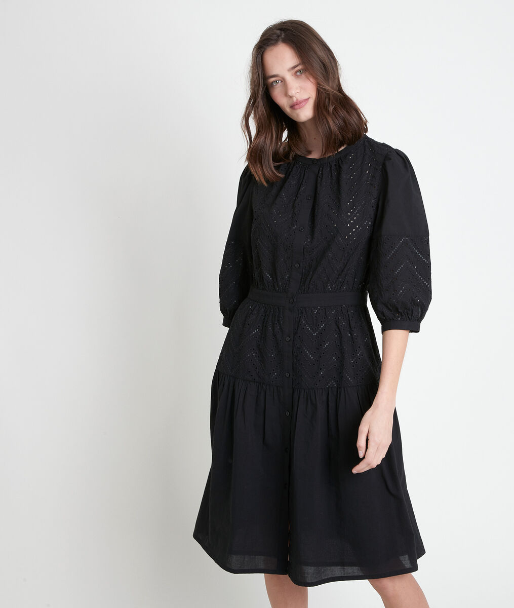 Robe noire brodée Latifa PhotoZ   1-2-3