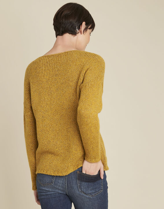 Bagno yellow turtleneck wool mix pullover (4) - 1-2-3