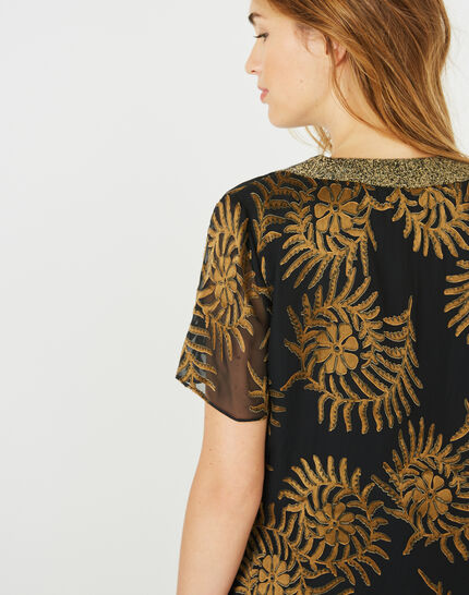 Dorée camel blouse with openwork detailing (3) - 1-2-3