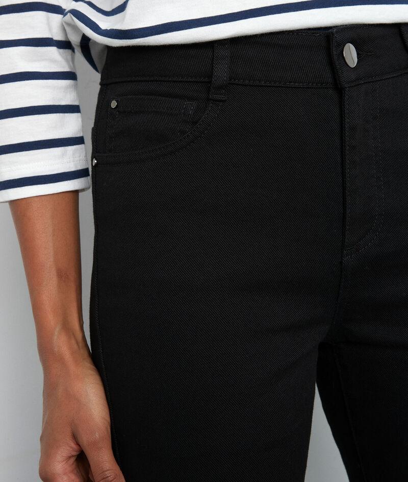 Jean droit à bords francs en coton noir Patience PhotoZ | 1-2-3