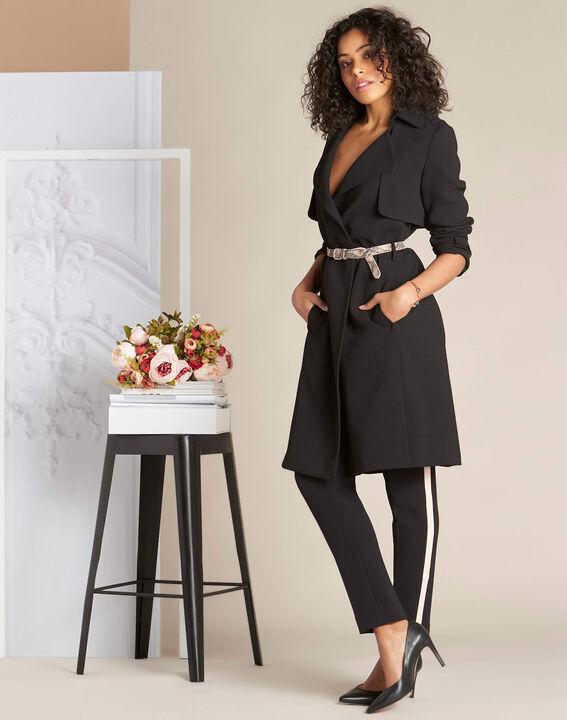 Pantalon de tailleur bicolore noir Vadim (1) - 1-2-3