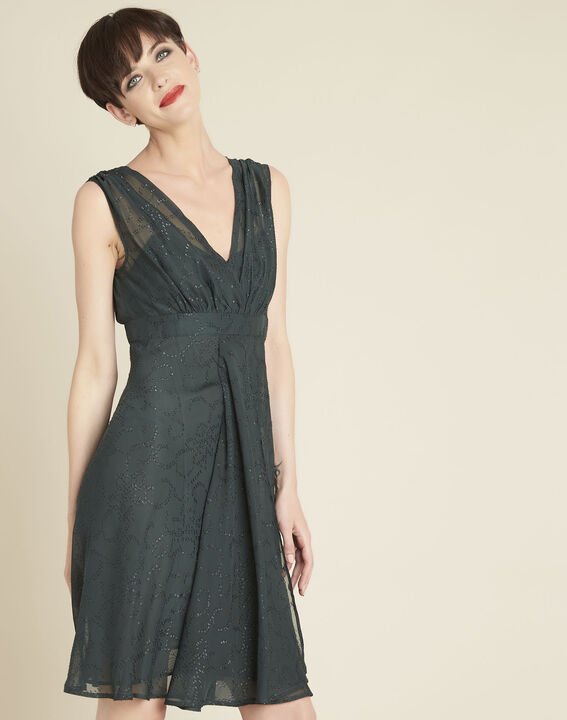 Nina dark green dress with diamanté detailing PhotoZ | 1-2-3