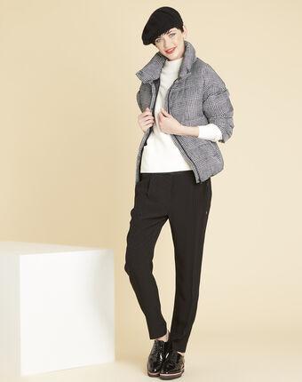 Harper polka dot jacquard black trousers black.