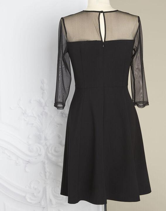 Robe noire empiècements tulle et dentelle Nadia - EXCLU WEB (5) - 1-2-3