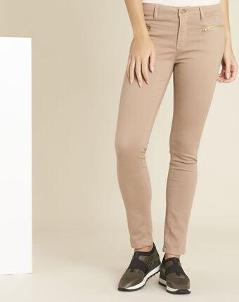 Jean rose droit poches zippées germain primerose.