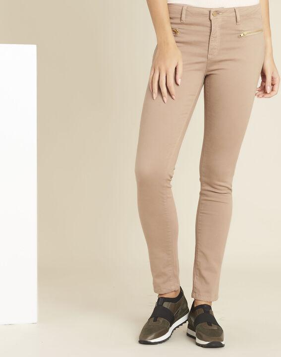 Rosa gerade Jeans mit Reißverschlusstaschen Germain PhotoZ | 1-2-3