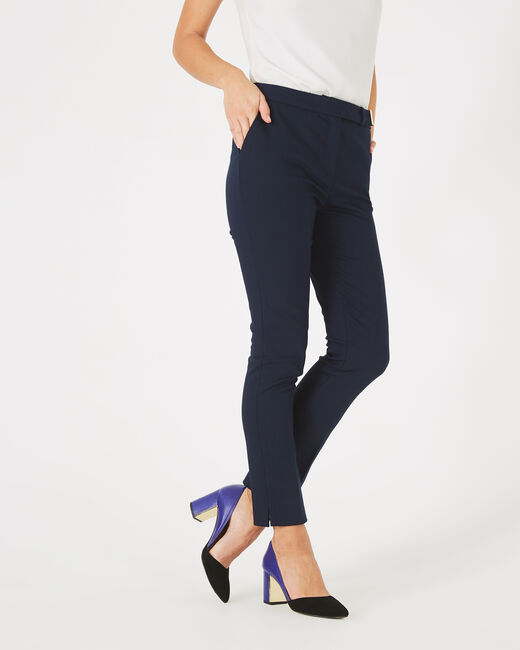Pauline tailored navy blue trousers with buckle (1) - 1-2-3