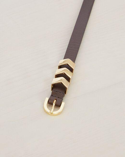 Orane fine grey leather belt (2) - 1-2-3