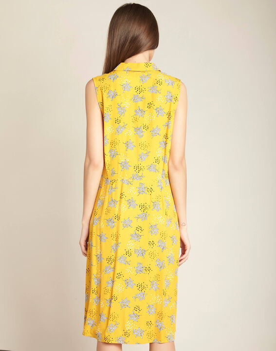 Patou yellow printed shift dress (4) - 1-2-3