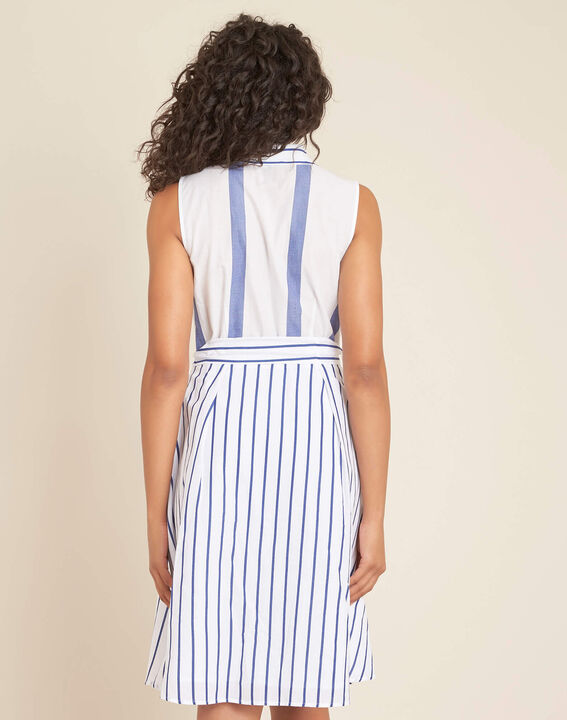 Polka striped blue dress (4) - 1-2-3