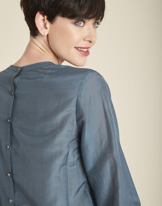 Carlota grey silk and cotton blouse (2) - 1-2-3