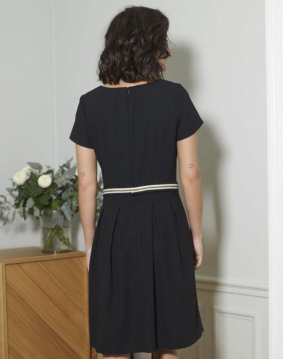 Zwarte straight-fit jurk Natalia (4) - 37653