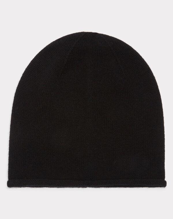 Bonnet noir en cachemire tilleul à
