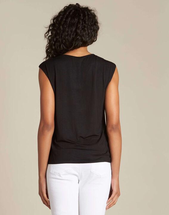 T-shirt noir col V Neptune (4) - 1-2-3