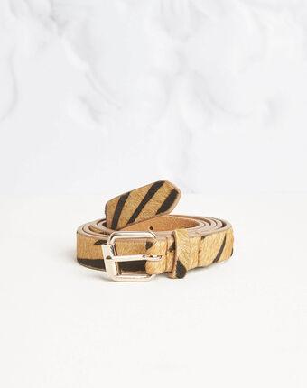 Romeo printed belt in camel camel.