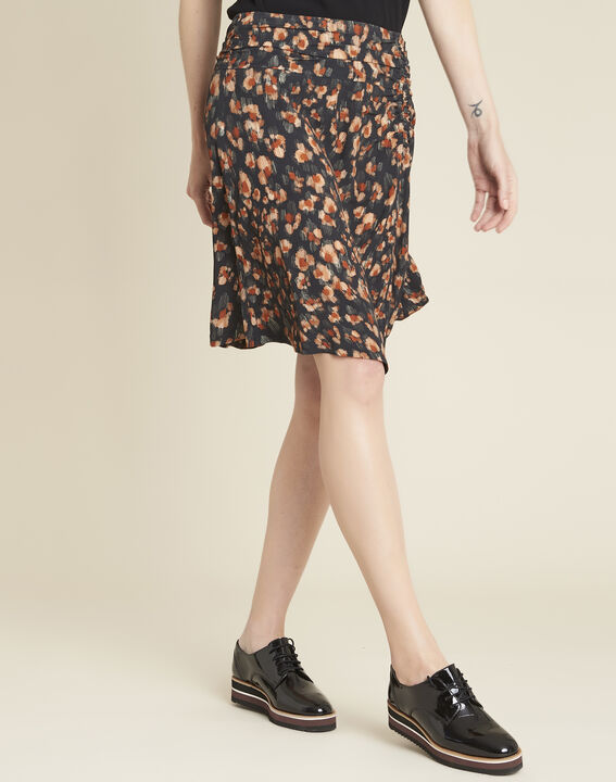 Astuce black skirt with an animal hide print  (1) - Maison 123